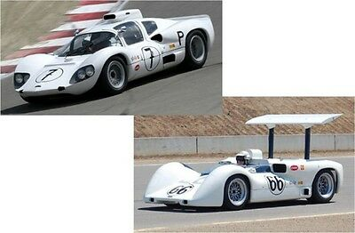 TRUE SCALE MINIATURES 11SS2 Chaparral 2D & 2E Set Signed by Jim Hall 1966 1:43rd