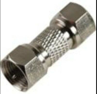 F81 Male to F81 Male Coaxial Adapter Connector Plug 91 GHZ (25 Pack)
