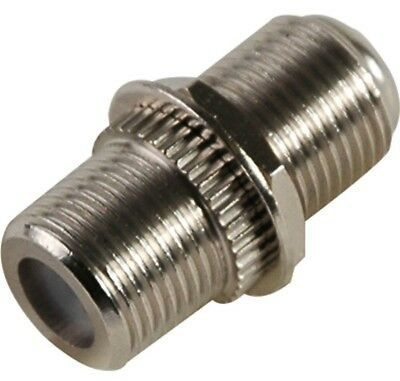 1 GHZ  F81 Female - F81 Female Coaxial Adapter Connector w/hardware(100 Pack)
