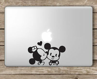 Minnie Kissing Mickey Mouse Disney - Apple Macbook Laptop Vinyl Sticker Decal