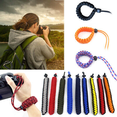 Adjustable Strong Camera Wrist Lanyard Strap Grip Weave Cord for Paracord DSLR