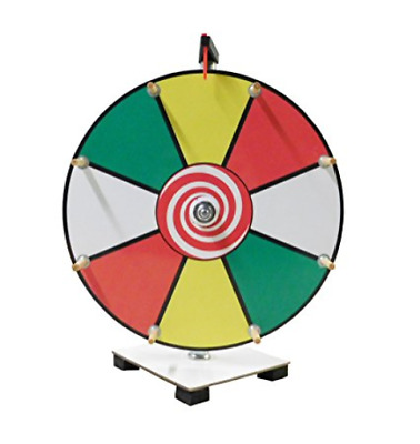 Prize Wheel 12 inch Color Face Classic Wooden Peg Design