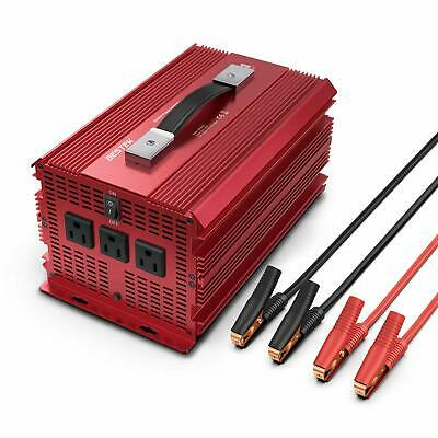 2000W/4600 Watt Power Inverter, BESTEK 12V DC to 110V AC Adapter Charger Supply