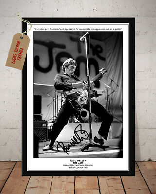 Paul Weller The Jam All Mod Cons London 1978 Autographed Signed Photo Print
