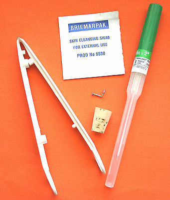 Nose Piercing Kit - STERILISED - Body Piercing needle clamps Nose Ring