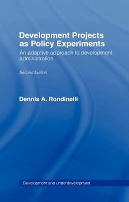 NEW Development Projects As Policy Experiments by Dennis A.... BOOK (Hardback)