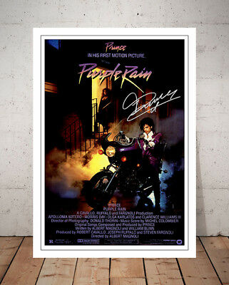 Prince Purple Rain 1984 Movie Poster Autographed Signed Photo Print