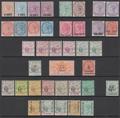 MAURITIUS VICTORIA MINT STAMP COLLECTION incl 1878 #85 1880 #100 1891 #119
