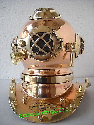 Solid Brass Copper US Navy Diving Divers Helmet Miniature Antique Style Replica