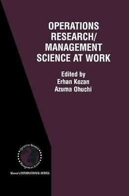 NEW Operations Research/management Science At Work BOOK (Hardback) Free P&H