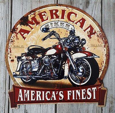 Blechschild**american Biker**made In The Usa**america's Finest**