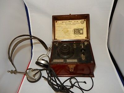 BBC Crystal Wireless Receiver The Belling Lee with Brandes Headphones c1920-30's