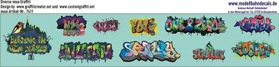 Graffiti-Set 5, Design by Customgraffiti, 10 bunte Elemente (087-7411)