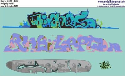 Graffiti-Set 2, Design by David S, 4 bunte Elemente (087-7401)