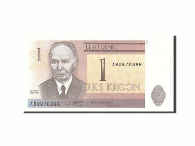 [#112690] Estonia, 1 Kroon, 1992, Undated, KM:69a, UNC(63)