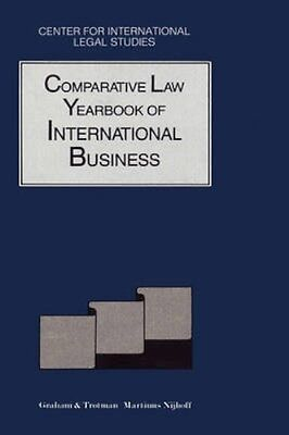 NEW The Comparative Law Yearbook Of International Business BOOK (Hardback)
