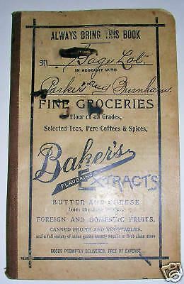 1908 BAKERS Extracts Account BOOK