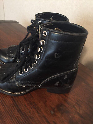 """Two Laced Victorian, Country Style Boots 7.5"""" Long"""