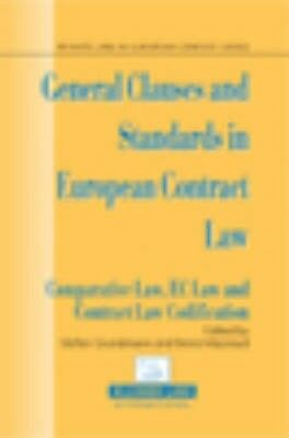 NEW General Clauses And Standards In European Contract Law... BOOK (Hardback)