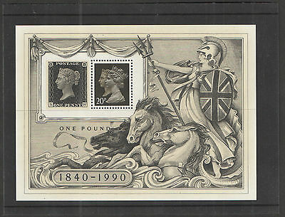 MS1501 1990 Stamp World Exhibition Royal Mail Miniature Sheet