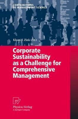 NEW Corporate Sustainability As A Challenge For... BOOK (Paperback)