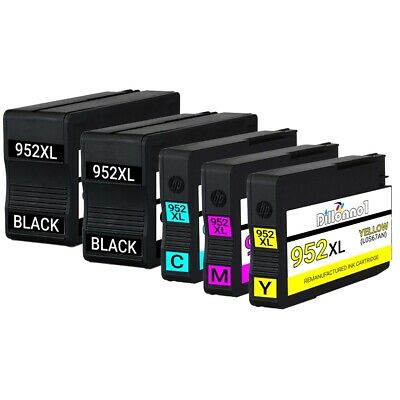5-Pack 952XL Ink Cartridges for Officejet 7740 8702 8715 Printers