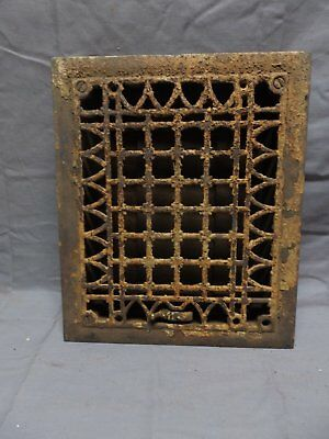 Antique Cast Iron Floor Register Heat Grate 12x10 Egg and Dart Motif Vtg 320-18P