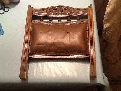 antique carved chair back ornate hardwood