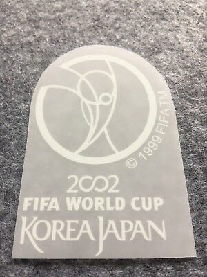 2002 FIFA World Cup Patch white Korea Japan Jersey Badge Shirt Player WC WM