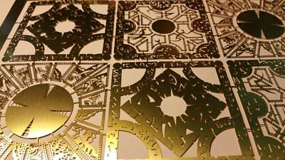 "Hellraiser Puzzle Box Brass Panel Set - 6 Different Panels .005"" Thick Full Size"