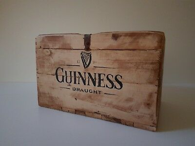 Guinness Reclaimed Rustic Wooden Crate Storage Vintage Style Antique Shabby