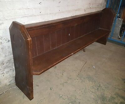 Antique Victorian church pew circa 1870, pine, ideal to strip or paint