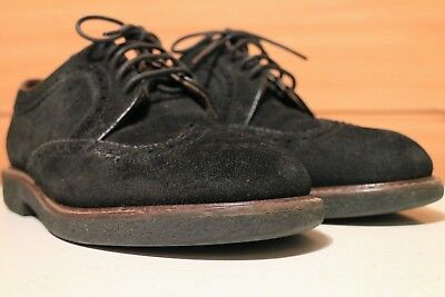MISSONI Dark Blue Suede Leather Brouge Lace-up Men's Shoes size UK 7.5, EU 41