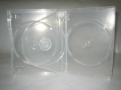 5 Super Clear 27Mm Quad 4 Dvd Cases With Booklet Clips Yzy2