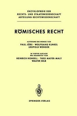 NEW Romisches Recht ( 4th Ed ) by P. Jors BOOK (Hardback) Free P&H