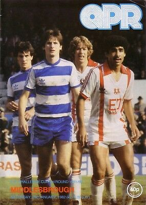 QPR v MIDDLESBROUGH 1981/82 FA CUP 3RD ROUND