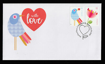 Australia 2018 : With Love, First Day Cover, Mint Condition