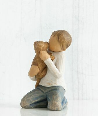Willow Tree Figurine Kindness, A Boy and His Dog By Susan Lordi  26217