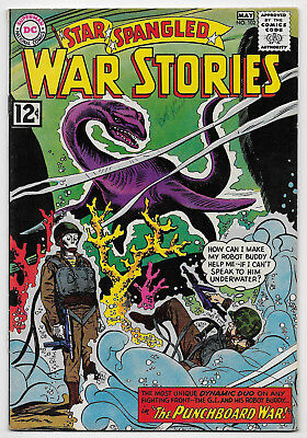 Star Spangled War Stories #102 DC Comics 1962 Silver Age Andru Cover Dinosaurs