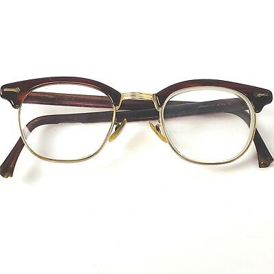 Eyeglasses Men's Brown 1950s 12K GF Original Vintage Hip Hagerstown MD Dr. Case