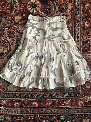 """Bongo Boutique Brand Girls Long Tiered """"trending"""" Camoflage Skirt Size 8"""