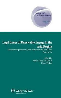 NEW Legal Issues Of Renewable Energy In The Asia Region by... BOOK (Hardback)