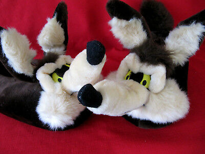 Vintage Warner Bros Studio Exclusive 1996 Wile E Coyote Slippers Adult Large NEW