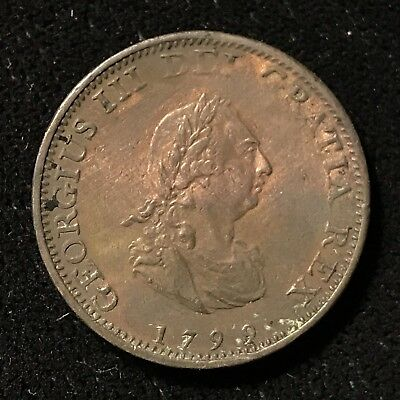 1799 FARTHING - GREAT BRITAIN * GREAT OLD BRITISH COPPER - GEORGE III -Lot#274