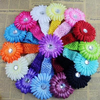 Beauty 3x Baby Girls Infant Toddler Flower Bow Headband Hair Band Accessories LD