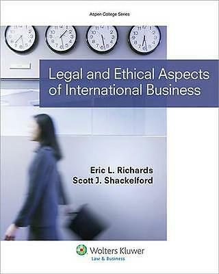 NEW Legal And Ethical Aspects Of International Business by... BOOK (Paperback)