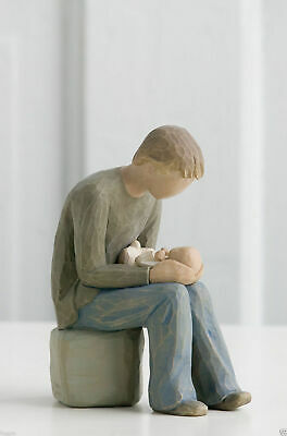 Willow Tree Figurine New Dad Father and New Baby By Susan Lordi  26129