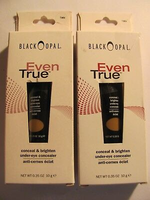 BLACK OPAL EVEN TRUE CONCEAL & BRIGHTEN CONCEALER Tan Lot of 2