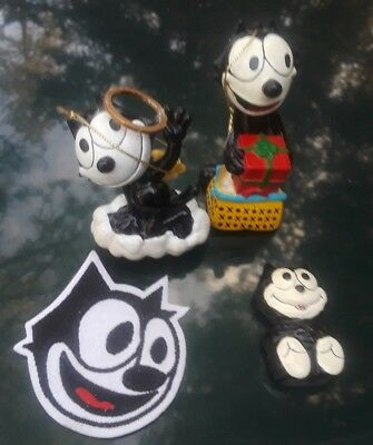 Felix The Cat Lot of 4 Pieces Magnet, Ornaments and Embroidered Iron On Patch