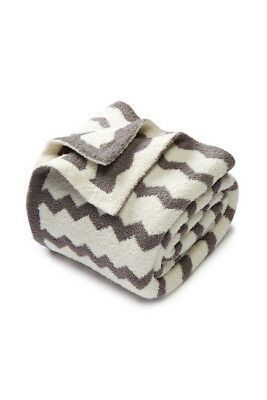 NWT Barefoot Dreams Chevron Throw in Gray/Cream $108